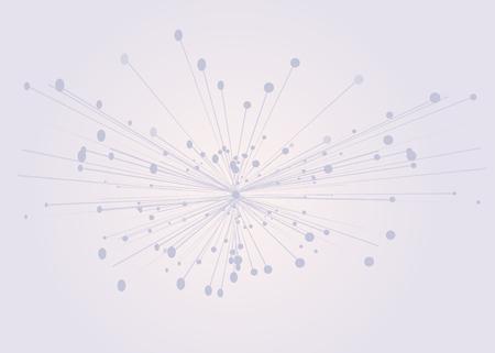 Abstrakte geometrische 3D-verbundene Struktur, Technologiehintergrund. In einem Punkt verbundene Linien mit Punkten. Vektor-3D-Darstellung. Vorlage für Präsentationen