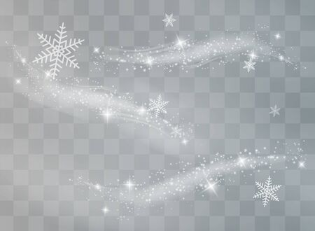 Snow and wind on a transparent background. White gradient decorative element.vector illustration. winter and snow with fog. wind and fog.