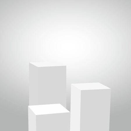 Abstract simple realistic pedestal template. Perfect for your projects. Vector illustration.