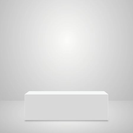 Abstract simple realistic pedestal template. Square Podium for product presentation. Vector illustration.