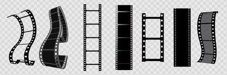 Cinema vector template. Movie reel frame. Film stip
