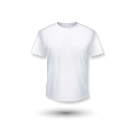 Shirt mock up set. T-shirt template. Black, gray and white version, front design. Ilustrace