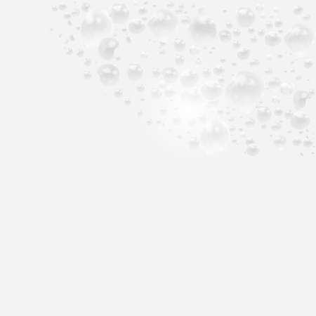 3d foam water, water with soap bubbles on a white background. Vector illustration. Ilustrace