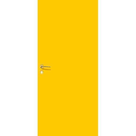 yellow door with handle and lock. interior door and entrance door. Ilustrace