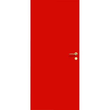 red door with a handle and a lock. interior door and front door.