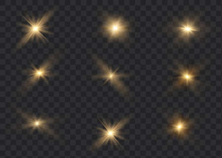 White glowing light explodes on a transparent background. Sparkling magical dust particles. Bright star Ilustrace