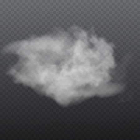 Fog or smoke isolated transparent special effect Ilustrace