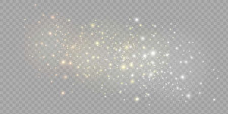 Yellow dust. Beautiful light flashes. Dust particles fly in space. Bokeh effect. Horizontal light rays Stock fotó - 167469044
