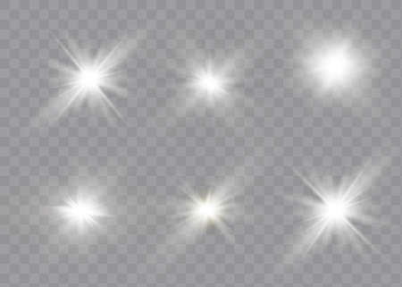White glowing light explodes on a transparent background. Sparkling magical dust particles. Bright star Stock fotó - 167515950