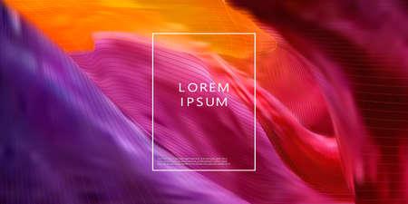 Colorful geometric background. Liquid form composition. Vector Stock fotó - 168027052