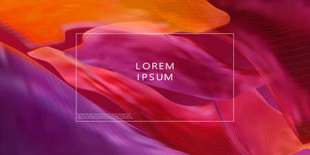 Colorful geometric background. Liquid form composition. Vector
