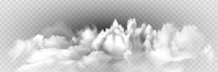 Fog or smoke isolated transparent special effect Illusztráció