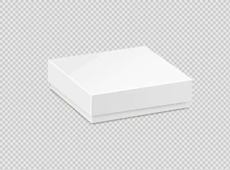 Product Cardboard Package Box. Illustration Isolated On White Background. Mock Up Template Ready For Your Design