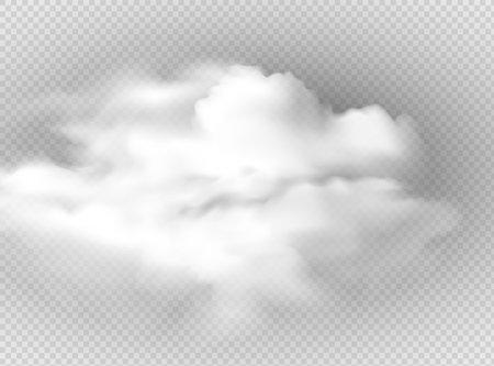 Vector set of realistic isolated cloud on the transparent background Illusztráció