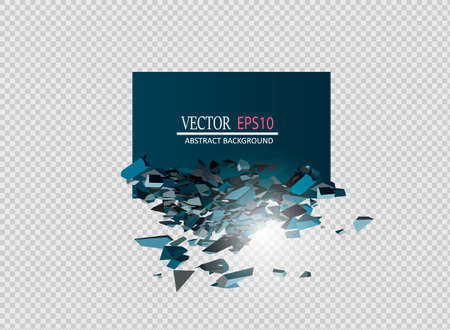Blank Abstract Background. Vector Black Banner with explosion effect and glow.