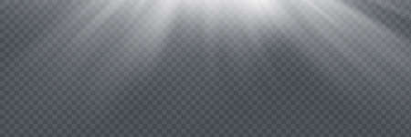 Vector spotlight. Light effect. Horizontal stellar rays and Illusztráció
