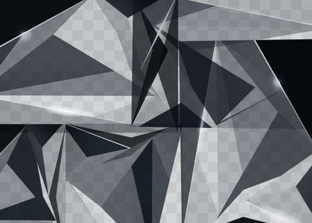 Abstract polygonal pattern luxury dark blue with silve