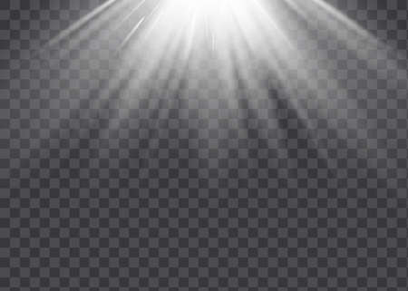 Vector spotlight. Light effect.Vector transparent sunlight special lens flare light effect