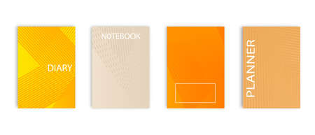 Minimal vector abstract cover notebook design. Planner and diary cover for print