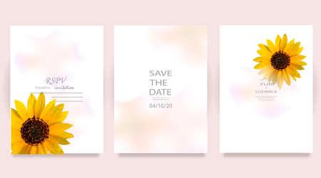 Dusty pink and ivory beige rose, pale hydrangea, fern, dahlia, ranunculus, fall leaf bunch of flowers invitation card Illusztráció