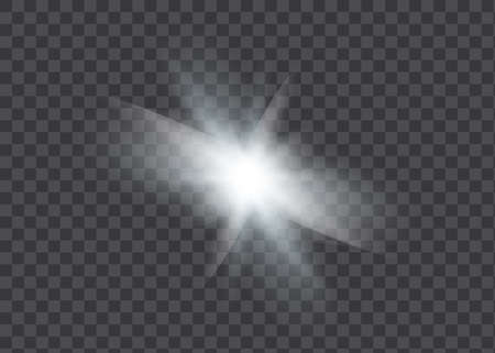 Yellow glowing light explodes on a transparent background. Sparkling magical dust particles. Illusztráció