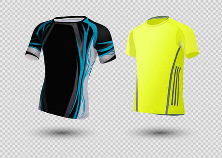Soccer jersey template. Mock up Football uniform for football club.On white background.