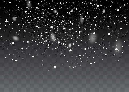 Falling snow on a transparent background. Snow clouds or shrouds. Illusztráció