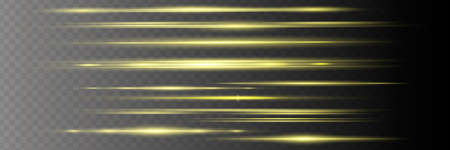 White horizontal lens flares pack. Laser beams, horizontal light rays. Illusztráció