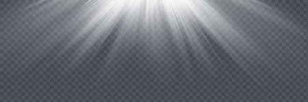 Vector spotlight. Light effect.Vector transparent sunlight Illusztráció