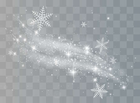 Snow and wind on a transparent background. White gradient decorative element.vector illustration. winter and snow with fog.
