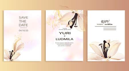Dusty pink and ivory lotus beige, pale hydrangea, fern, dahlia, buttercup, autumn flower bouquet invitation card.