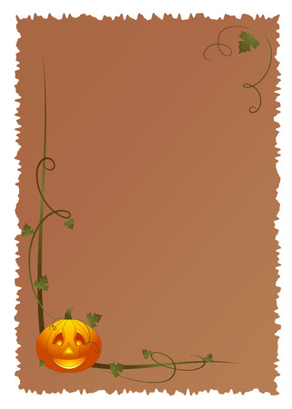 Abstract halloween background with pumpkin, illustration Vector