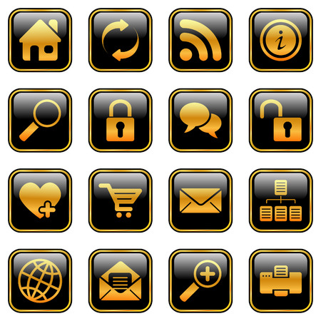 gold house: Website and internet icons for your products and designs