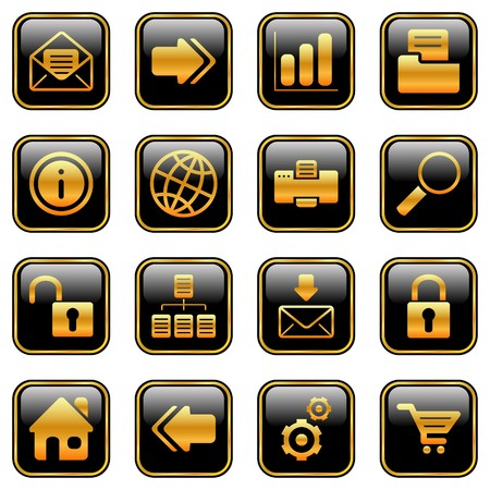 Website and internet icons for your products and designs Vector