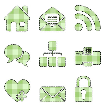 Handmade Web and Internet icons isolated on white background Vector