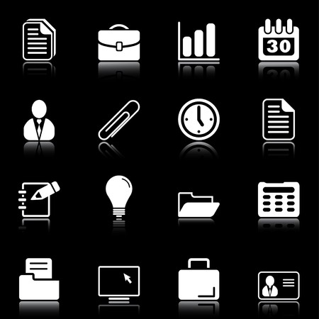 pencil set: Office and business - professional icons for your website, application, or presentation