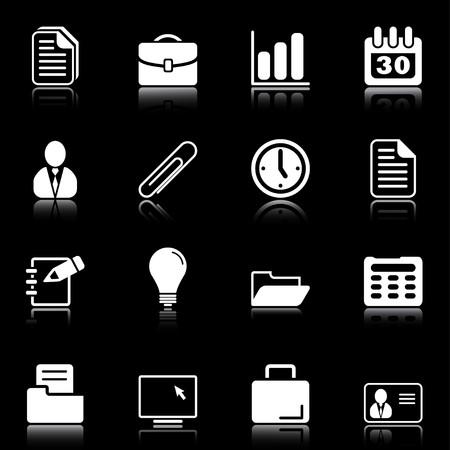 pad pen: Oficina y negocios - iconos profesionales para su sitio Web, la aplicaci�n o la presentaci�n