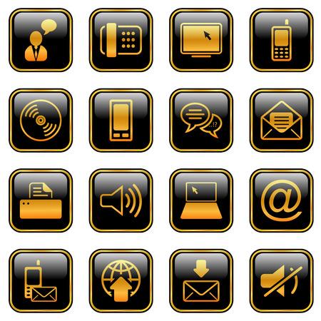 Comunicación - iconos profesionales para su sitio Web, la aplicación o la presentación  Ilustración de vector