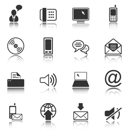 communicatie: Communicatie - professionele pictogrammen voor uw website, applicatie of -presentatie Stockfoto