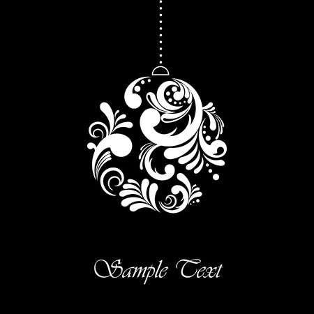 Abstract Christmas card with editable text Vector