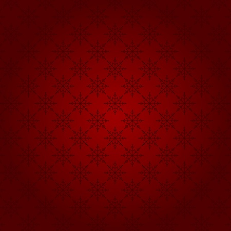 christmas seamless pattern: Red Christmas seamless pattern with snowflakes, vector
