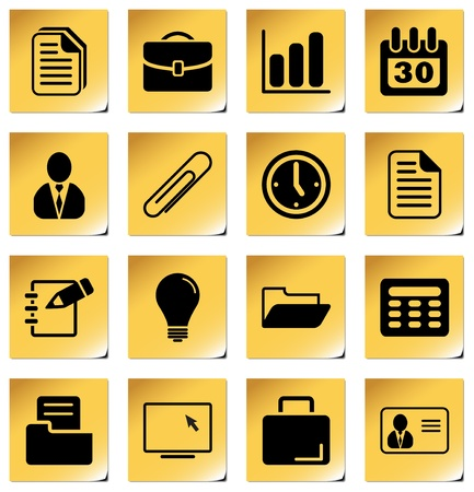 Office and business - professional icons for your website, application, or presentation Vector