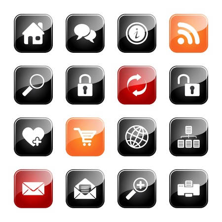 Web and Internet- professional icons for your website, application, or presentation, eps10 Vector