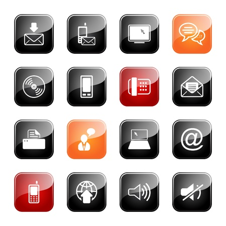 communication icons: Communication - professional icons for your website, application, or presentation,eps10