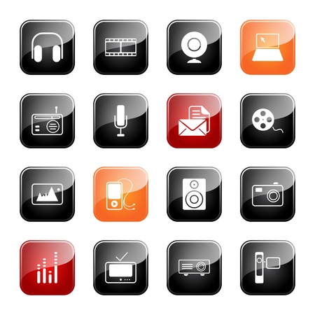 Mass media - professional icons for your website, application, or presentation,eps10
