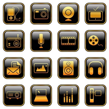 Mass Media icons - professional icons for your website, application, or presentation Stock Vector - 9631597