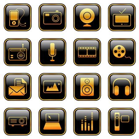マスメディア アイコン - プロフェッショナルなウェブサイト、アプリケーション、またはプレゼンテーション