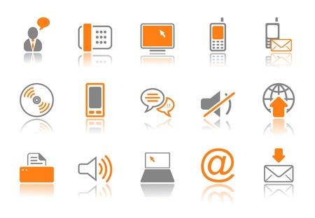communicatie: Communicatie - professionele pictogrammen voor uw website, applicatie of presentatie Stock Illustratie