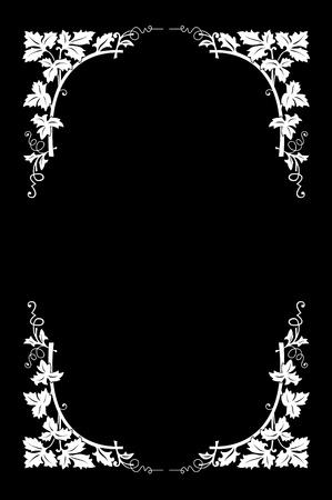 accents: Frontera floral blanco y negro, f�cil de Recolored