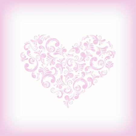 Abstract floral heart shape, illustration  Love Stock Vector - 13146868